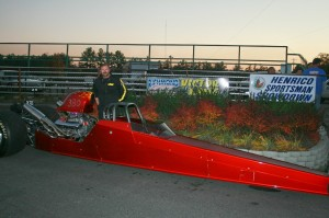 Bruce Hensley was on a roll in his Dragster but came up a little short in a great Top Final